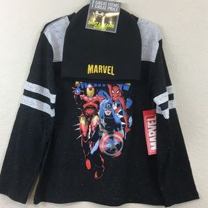 Marvel T-Shirt and Beanie Combo S, M, L, XL
